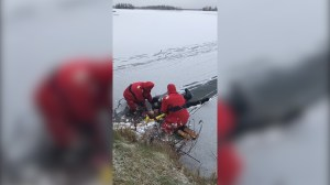 Dramatic video shows ice rescue in Alaska's Big Lake