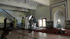 Aftermath of bomb that hit Shiite mosque killing at least 49