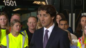 Justin Trudeau announces $3B for public transit funding in Ontario