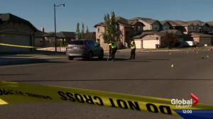 Woman hit by vehicle in northwest Calgary suffers life-threatening injuries