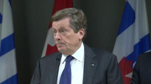 Toronto mayor standing ground on property tax increase