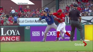 Baseball brawl: Odor punches Bautista