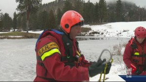 Kelowna Ice rescue teams hone skills on frozen pond