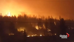Amateur video captures scales of wildfire in Hanceville, BC