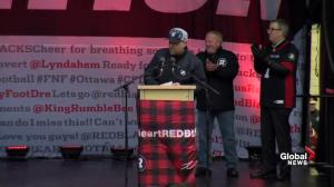 Ottawa Redblacks GM Marcel Desjardins speaks at Grey Cup victory rally
