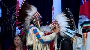 Tsuut'ina Nation warmly welcomes the Prime Minister for historic visit.