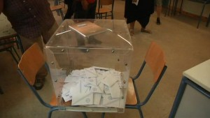 Footage of Greeks voting in bailout referendum