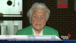 Toronto Election: Hazel McCallion happy with Tory's win