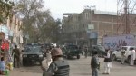 Aftermath footage of suicide attack in Afghanistan