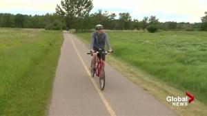 Brendan Parker takes tandem bike tour of Fish Creek trails