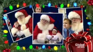 Home for the holidays:  The picture perfect photo with Santa