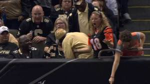 Saints fan robs Bengals fan of game ball after touchdown