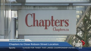 BIV: Chapters store closing down on Robson Street