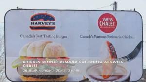 Chicken dinner demand softening at Swiss Chalet thanks to oil slump