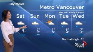 BC Evening Weather Forecast: Nov 25