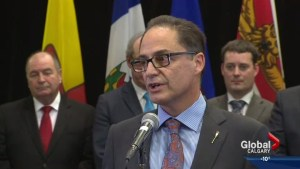 Alberta Finance Minister Joe Ceci faces tough questions as province looks to rebound