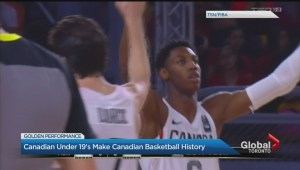 Canadian under 19 basketball team makes history