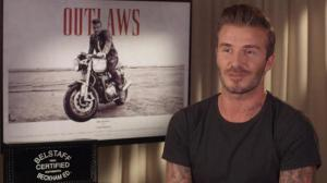 David Beckham talks about his first major acting role