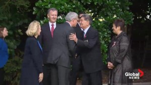 PM Harper goes nose to nose in New Zealand