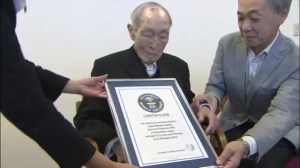 111-year-old Japanese man crowned world's oldest man