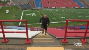 Calgary Dino's head coach Blake Nill