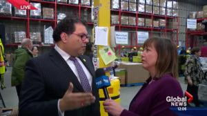 Naheed Nenshi kicks of Mayor's Annual Christmas Food Drive