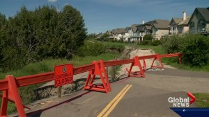 Home owners along the bow river nervous about slumping land