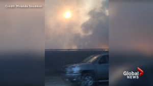 Video captures mother comforting 3 kids as they flee Fort McMurray wildfire