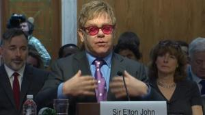 Sir Elton John asks Congress to continue global fight against AIDS