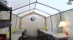 New supervised injection tent in Downtown Eastside