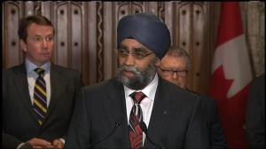 Harjit Sajjan offers his condolences to the family of Capt. Thomas McQueen