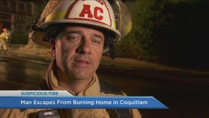 Man escapes burning home in Coquitlam