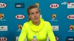 Eugenie Bouchard on Australian Open elimination
