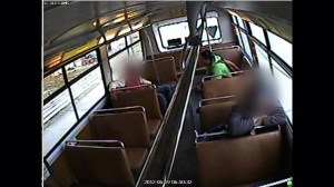Jurors shown video of accused killer calmly boarding bus after allegedly stabbing woman to death