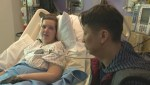 Emotional meeting between strep infection survivors