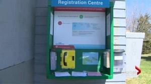 Province sets up self-serve camping system