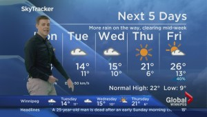 Significant rainfall on the way to southern Manitoba