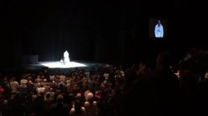 RAW: Bill Cosby receives standing ovation at London show