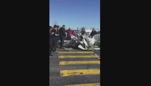 Two planes collide over Promenades Saint-Bruno mall