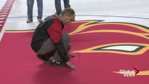 First ice of the season installed at the Scotiabank Saddledome