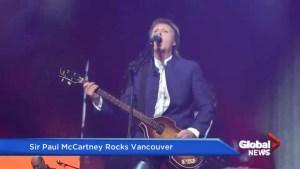 Sir Paul McCartney rocks Vancouver