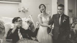 Couple marries year early in Toronto hospital to be with groom's dying father