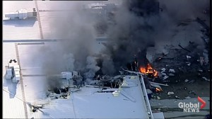 Plane crashes into building near airport in Melbourne, Australia