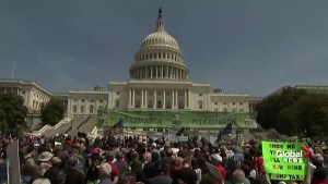 Many people gather in Washington, DC to demand Trump to release taxes