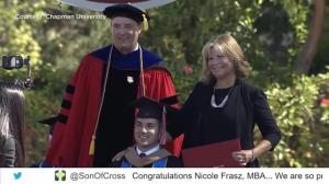 Mother stunned by her paralyzed son's surprise for her on Graduation Day