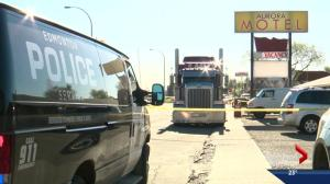 Truck driver attacked in west end