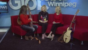 Russian guitarist displays handmade electric guitars in Winnipeg