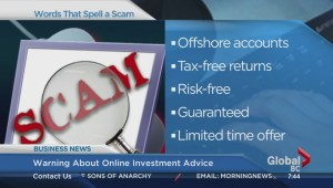 BIV: Warning about online investment advice