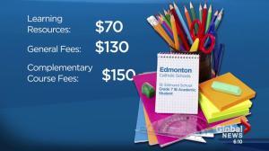 School fees in Alberta
