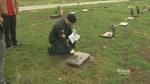 Vernon students honour veterans' graves
